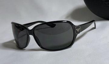 正規美レア ARMANIアルマーニ イーグルロゴサングラス 黒×シルバー メインアイコン 付属有