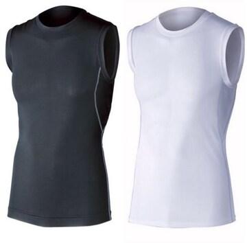 新品 冷感消臭パワーストレッチノースリーブクルーネックシャツ