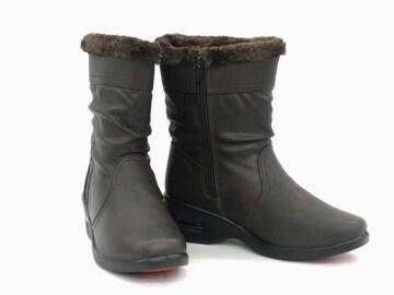 ミドル丈ブーツ 9390 ダークブラウン Mサイズ 防水 防寒 防滑