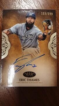 巨人新外国人選手E.テームズ直書きサインカード