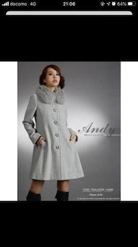 4.5万 andy フォックス アンゴラ コート ドレス
