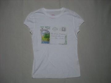 25 女 ラルフローレン ポロジーンズ 白 半袖Tシャツ XS