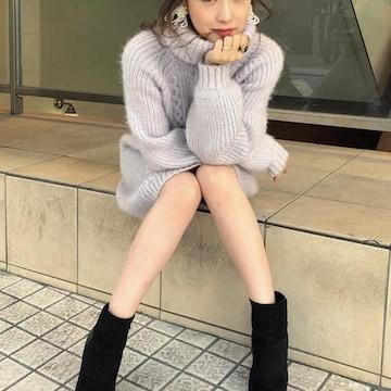 新品タグ付★リエンダ★Fluffyケーブルknitワンピース グレー/ 未開封 rienda