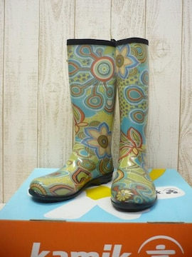 即決☆カミック レインブーツ ボヘミア GN/25cm カナダ製 長靴 新品
