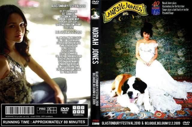 ≪送料無料≫NORAH JONES GLASTONBURY 2010 &2009ノラジョーンズ  < タレントグッズの