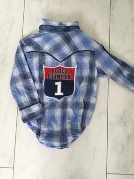 wrangler チェックシャツ風ロンパース 12M ラングラー ベビー