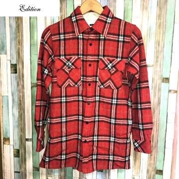 edition ウールチェックシャツ