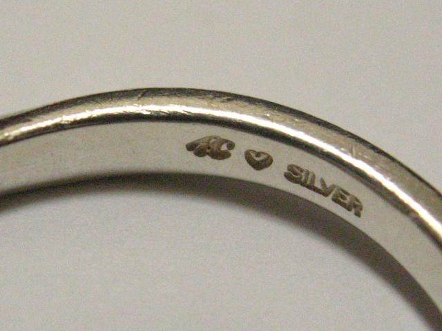 日本トップ宝飾4℃ヨンドシーの極上シンプル美ウェーブ銀艶925デザインリング16号