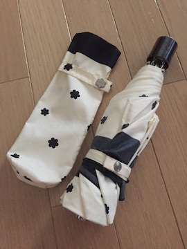 FURLA モノトーン花柄 3つ折り折り畳み傘