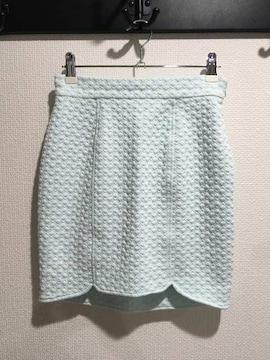 新品 リエンダ タイト ミニスカート 水色 パステルブルー