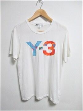 ☆Y-3 ワイスリー adidas アディダス ビッグロゴ Tシャツ/メンズ/XS☆希少モデル
