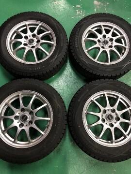 0082775激安美品クロススピ-ドAW国産スタッドレスタイヤセット195/65R15送料無料