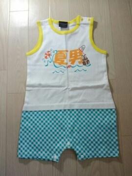 ●夏男ロンパース● 80 新品