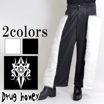 【新品/Drug honey】サイドエコファー付裏起毛ワイドパンツ