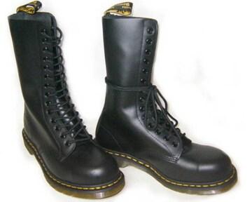 ドクターマーチン新品14ホールブーツ安全靴スチール入1940黒uk8
