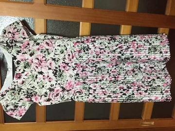 美品 レストローズ ボタニカル フラワー ワンピース ピンク