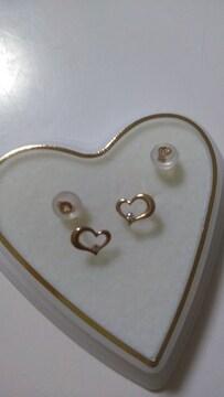 K10ダイヤモンドのピアス新品送料込み