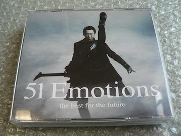 布袋寅泰【51 Emotions-the best】初回盤(3CD+DVD)ベスト/訳有