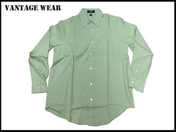 新 【ライトグリーン色-2X】Vantage大きいシャツアメリカ輸入品
