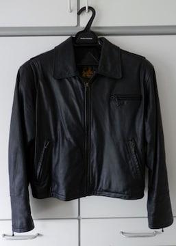 ■■良質牛革、漆黒のブラック、ビンテージ、かっこいい!