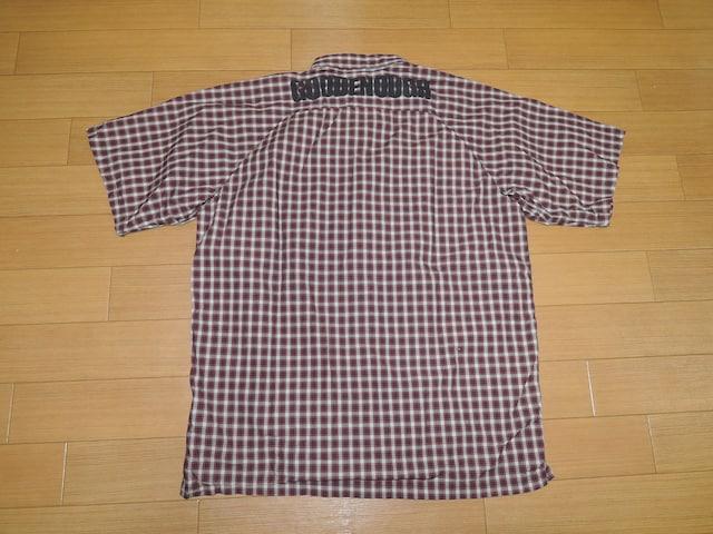 GOOD ENOUGH グッドイナフ 背ロゴ 半袖 チェックシャツ M  < ブランドの