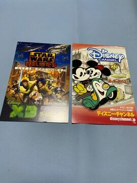 ディズニーXDはがき2枚セット 新品 非売品