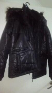 新品 ダウン  中綿 ジャンパー ファー アウター コート ブラック