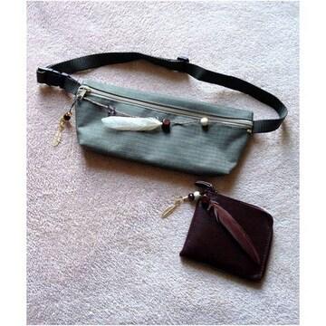 男女兼用◆ウエストポーチ 小銭入れ付 お財布 セット