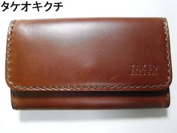 500スタ☆本物正規TAKEO KIKUCHI タケオキクチ レザー4連キーケース