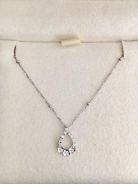 スタージュエリー ダイヤモンド ネックレス K18WG 0.05ct