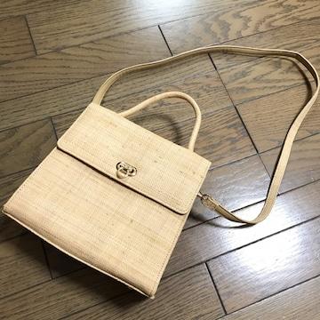 リリーブラウンLily Brown レトロ ペーパー素材サマーバッグ鞄