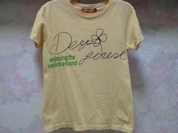 KRIFF MAYER☆プリントcuteな半袖Tシャツ/淡いマスタード色:120〜135