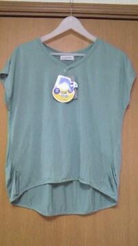 新品・抗菌防臭UV対策タック入りTシャツL