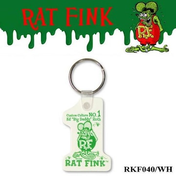 【送料無料】ラットフィンク No.1キーホルダー RKF040/WH