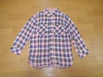 ヒステリックグラマーHYSTERIC GLAMOUR7分丈チェックシャツS