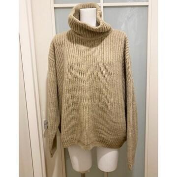 DKNY ざっくりニット セーター オーバーサイズ ベージュ#S