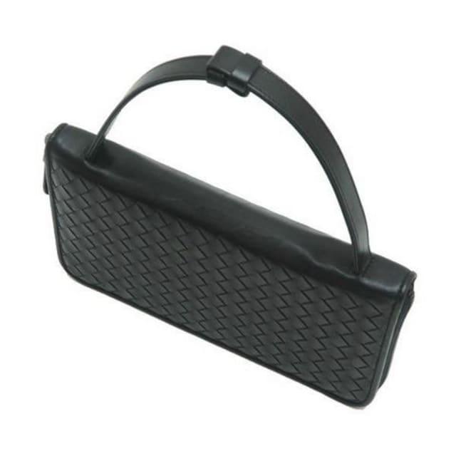 本物美品◆ボッテガヴェネタ【人気】トラベルケース長財布(黒革 < ブランドの
