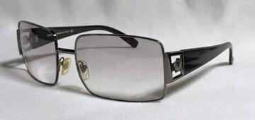 正規激レア VERSACEヴェルサーチ メデューサロゴサングラス 黒×クロームブラック 眼鏡