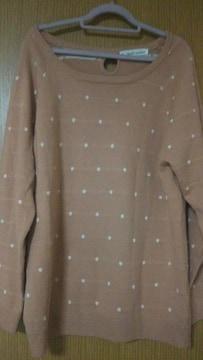 ハートマーケット☆ピンクドットセーター♪サイズM