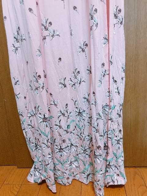 m�@エイソスマキシ丈 ワンピース ピンク 花柄 サイズ6 < ブランドの