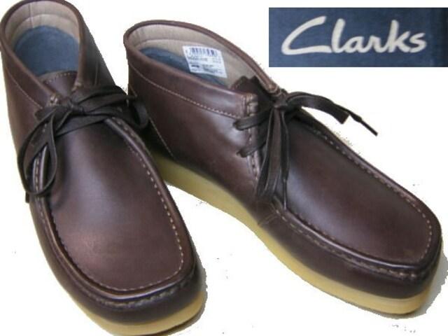 クラークスCLARKSワラビーブーツSTINSON HI26129530濃茶us7.5  < 男性ファッションの