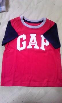 GAP赤ネイビーTシャツ100cm