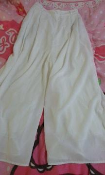 GUガウチョパンツ(スカーチョ)ホワイト