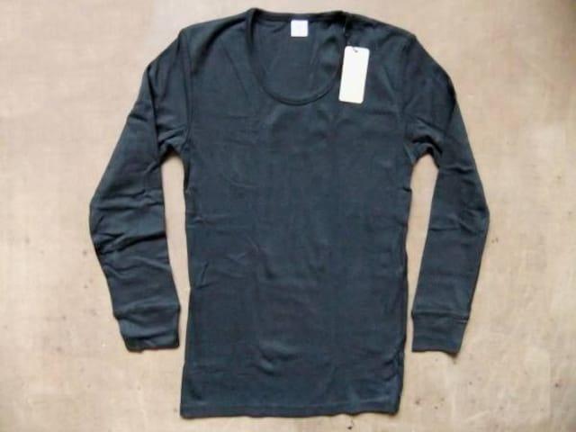 人気 grn(ジーアールエヌ) 無地 長袖 Tシャツ S 黒  < 男性ファッションの