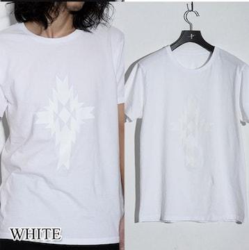 NO ID ノーアイディー オルテガ クロス プリント Tシャツ