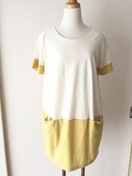 [ELLE]★切り替えデザイン・半袖ワンピース・サイズ[38]★