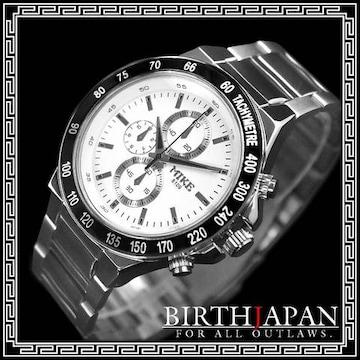 即決ヤクザ悪羅悪羅系腕時計/メンエグ&やくざオラオラ系チョイ悪小物/8109M白