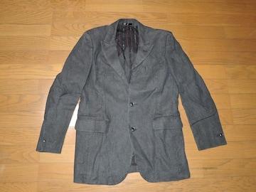 リコRICO麻テーラードジャケットMヘンプ顔料染め加工リネン
