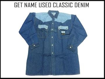 新品 GET USEO 90代 b系・ヒップホップ デニムシャツ L