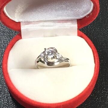 新品 パラジウム ダイヤモンド 定価 19,800円 リング 14号